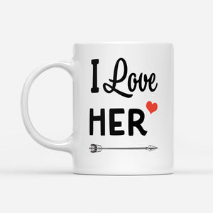 couple mug I love her - White Mug
