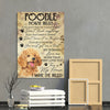 Poodle Canvas Prints- Anniversary, Birthday, Housewarming, Christmas gift - House Rules If You Don't Want Fur On Your Clothes