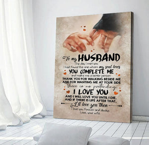 To My Husband Gift Canvas - Art Print -The Day I Met You - Gift For Him - Gift For Bithrday - Anniversary Gift - Wall Decor - Canvas