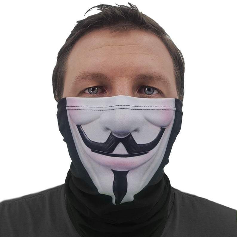 Anonymous Face Gaiter Cover, Made in the USA!