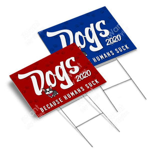 "Happy Dogs 2020 Yard Sign 18""x24"", Nope Trump No Trump Anti Trump Joe Biden President 2020"