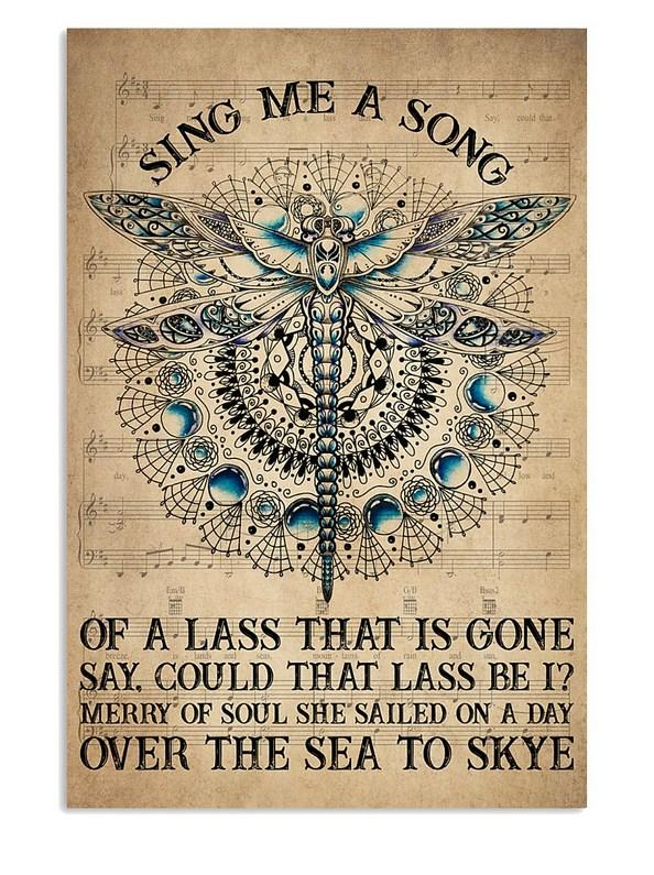 Book Sing Me A Song Vertical Canvas