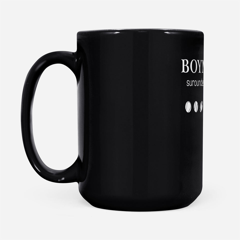 Boy mom - Black Mug