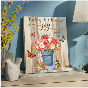 Today I choose Joy Butterfly Canvas Wall Art Decor- Anniversary Birthday Christmas Housewarming Gift Home Decor