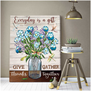 Everyday is a gift Canvas Wall Art  – Dreagonfly Canvas - Anniversary Birthday Christmas Housewarming Gift Home Decor