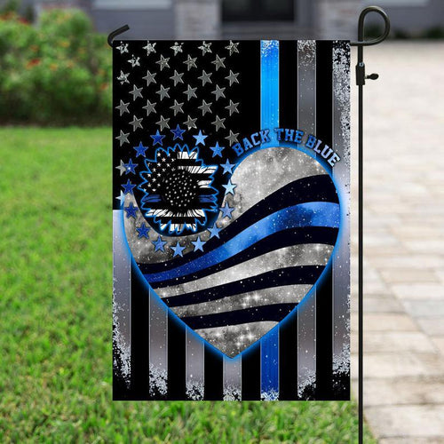 Police Flag, Law Enforcement, Blue Lives Matter, Police Officer, Back The Blue, Support Local Police Yard And Outdoor Decor, Garden Flag