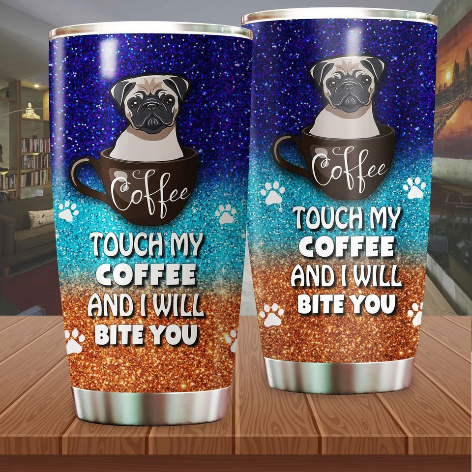 Pug Coffee Stainless Steel Insulated Tumbler Cups