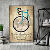 LIFE IS LIKE RIDING A BICYCLE. TO KEEP YOUR BALANCE, YOU MUST KEEP MOVING.. - Canvas