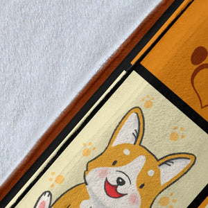 Dog Blanket Corgi Butts Drive Me Nuts Dog Lover Gifts Fleece Blanket