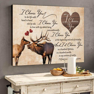 Canvas Prints - Gift for him/her - Couple gift - I choose you canvas 2