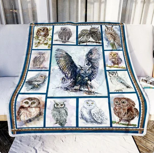 OWL BLANKET - SPECIAL GIFT FOR FAMILY, FRIENDS