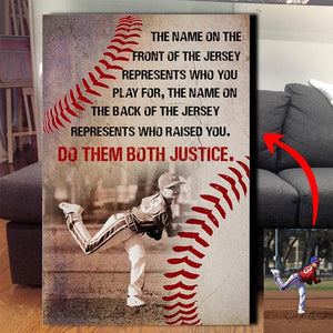 Do Them Both Justice - Baseball Custom Canvas Prints With Photo