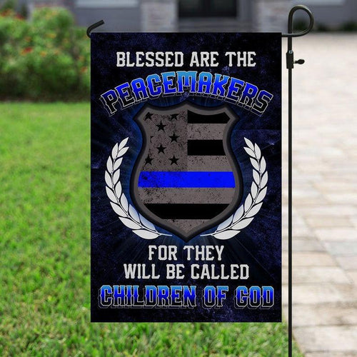 Police Flag, Peacemakers Police, Back The Blue, Blue Lives Matter, Thin Blue Line Garden Flag