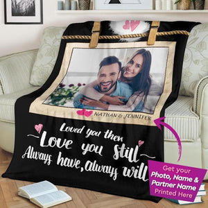 Custom Couple Blanket, Anniversary Gifts, Personalized Photo Blanket, Personalized Gifts, Gift for Husband, Husband Blanket,