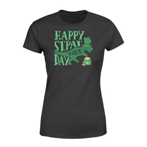 St Patrick's Day 2020 Happy St.PatT-rex Day - Standard Women's T-shirt - Family Presents