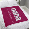 Grandma Blanket - Nana we love you Personalized with grandkids' name - Fleece Blanket