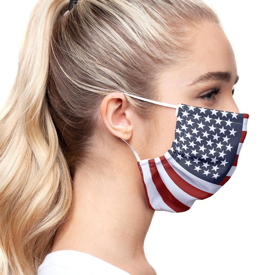 American Flag Cloth Mask