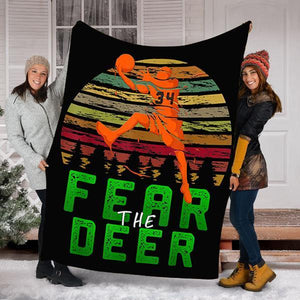 Custom Blanket Basketball Blanket - Fleece Blanket