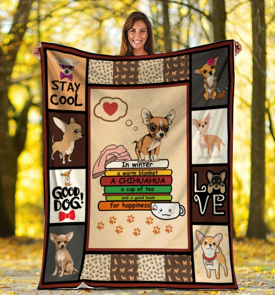 Dog Blanket In Winter A Warm Blanket A Chihuahua Dog Fleece Blanket