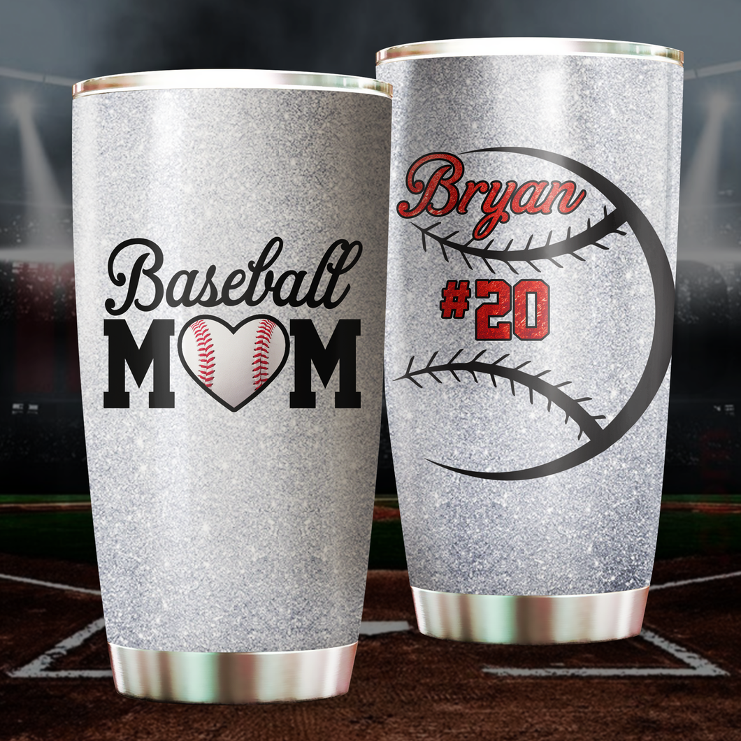 Custom Baseball Mom Tumbler