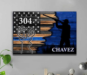 Personalized Canvas - TBL - Police Hunting