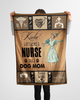 BEING A NURSE AND A DOG MOM Fleece Blanket -  Happy Labor Day