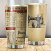 Sewing knowledge stainless steel tumbler HG
