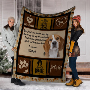 Dog Blanket Your Friend Your Partner Your Dog You Are My Life Beagle Dog Fleece Blanket