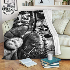 Baseball Vintage Customized Blanket