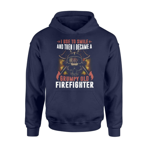 Grumpy Old Firefighter Hoodie - Family Presents