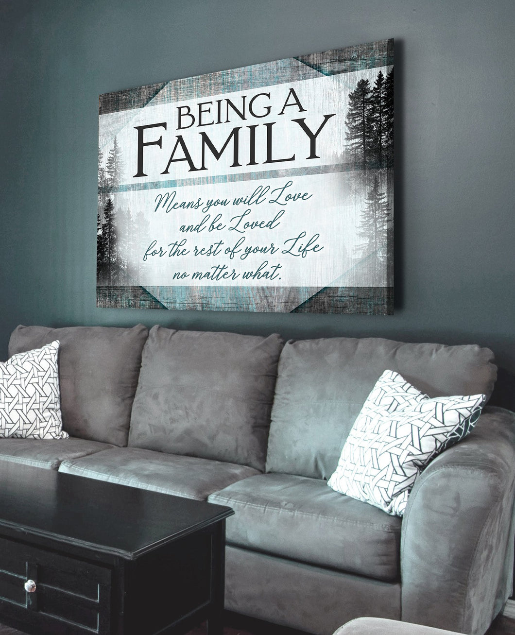 Family Canvas - Being A Family Means You Will Love And Be Loved - Home Decor - Gift for family, friends
