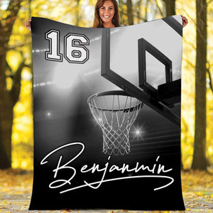 Custom Blankets Basketball With Name