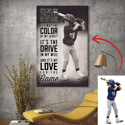 It's My Love For The Game - Baseball custom canvas prints With Photo