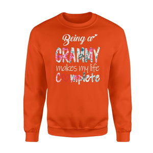 being a grammy makes my life complete - Standard Fleece Sweatshirt - Family Presents