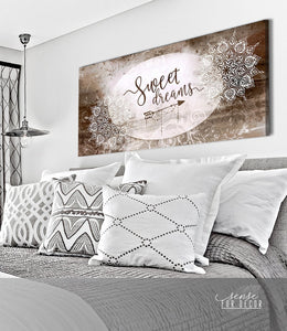 Canvas - Bedroom Wall Art - Sweet Dreams - Gift for family member - GIft for friends