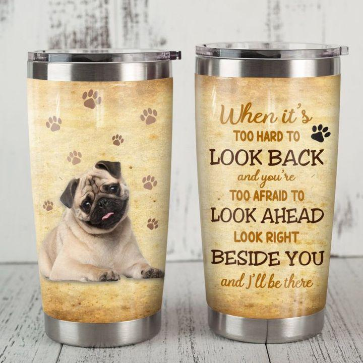 Pug Paws Stainless Steel Insulated Tumbler Cups