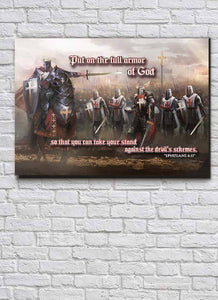"""Full Armor Of God"" Premium Canvas"