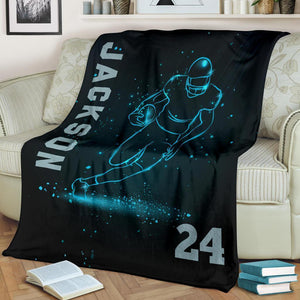 Custom Blankets Football Star