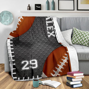 Custom Blankets Football Double Balls