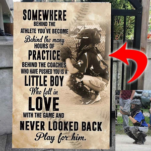 Play for him - Baseball Custom Canvas Prints With Photo