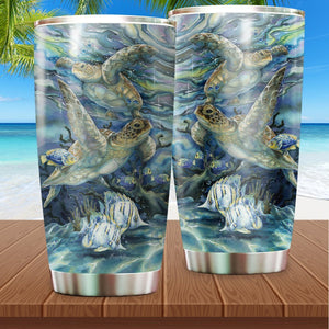 Sea Turtle Stainless Steel Insulated Tumbler Cups