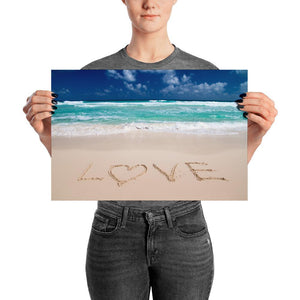 Love On Sand Poster