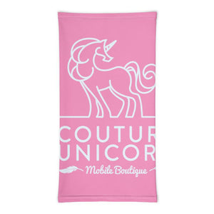 Couture Unicorn print neck gaiter