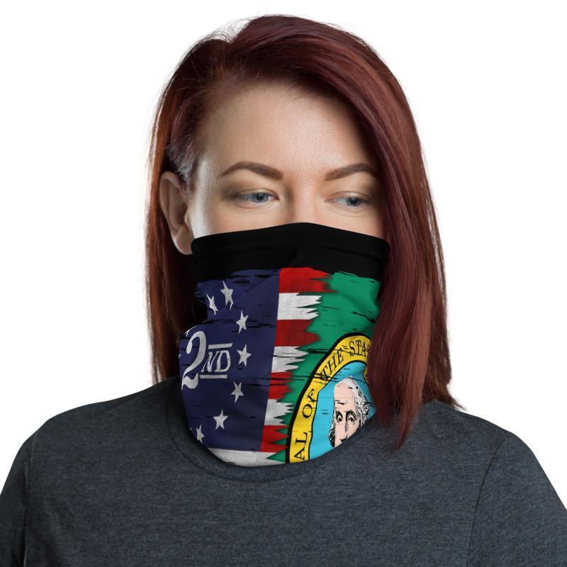 2A Washington Flag Mix Face Gaiter Cover