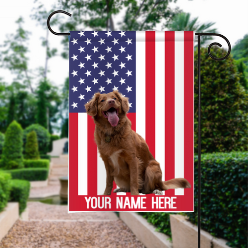 PERSONALIZED CUSTOME NAME DOG CAT PET GARDEN FLAG, HOUSE FLAG