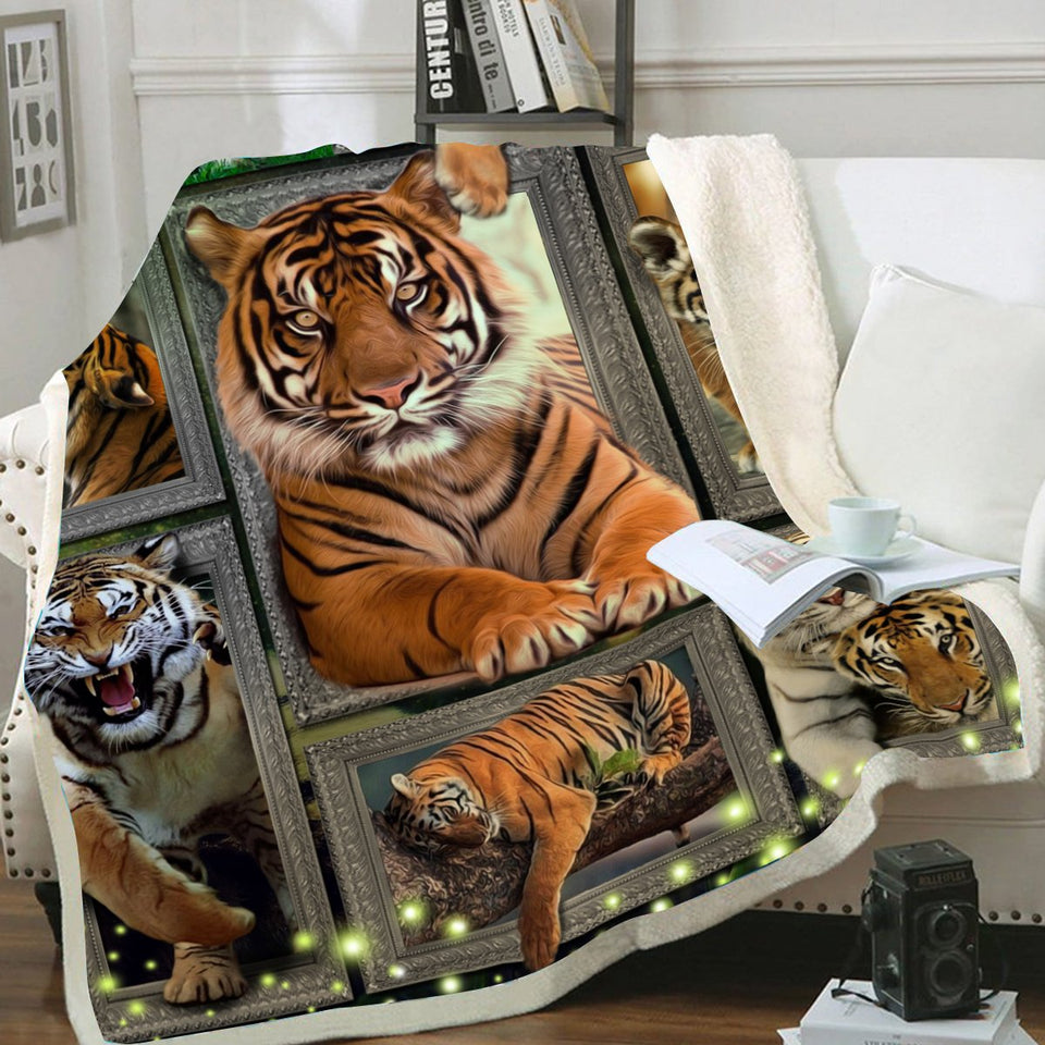 3D Huge Tiger Blanket