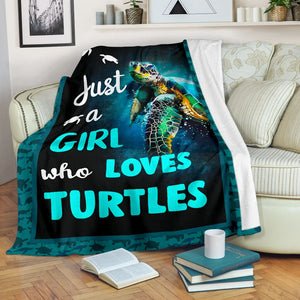 just a girl who loves turtles blanket - Family Presents