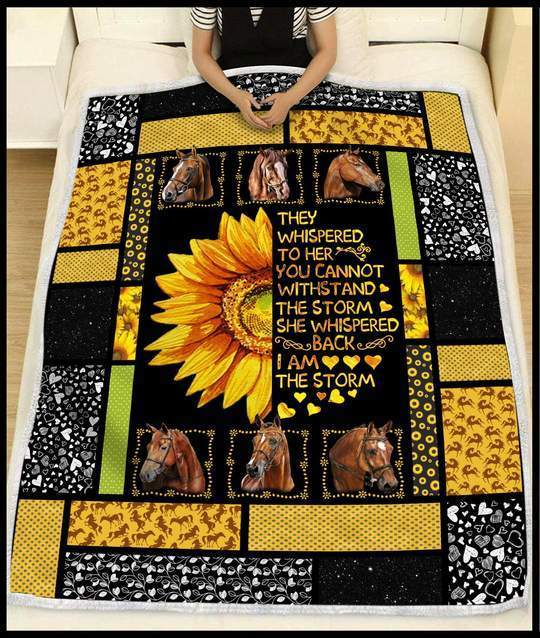 Daughter Horse Blanket - They whispered to her you cannot withstand the storm - Fleece Blanket - Family Presents