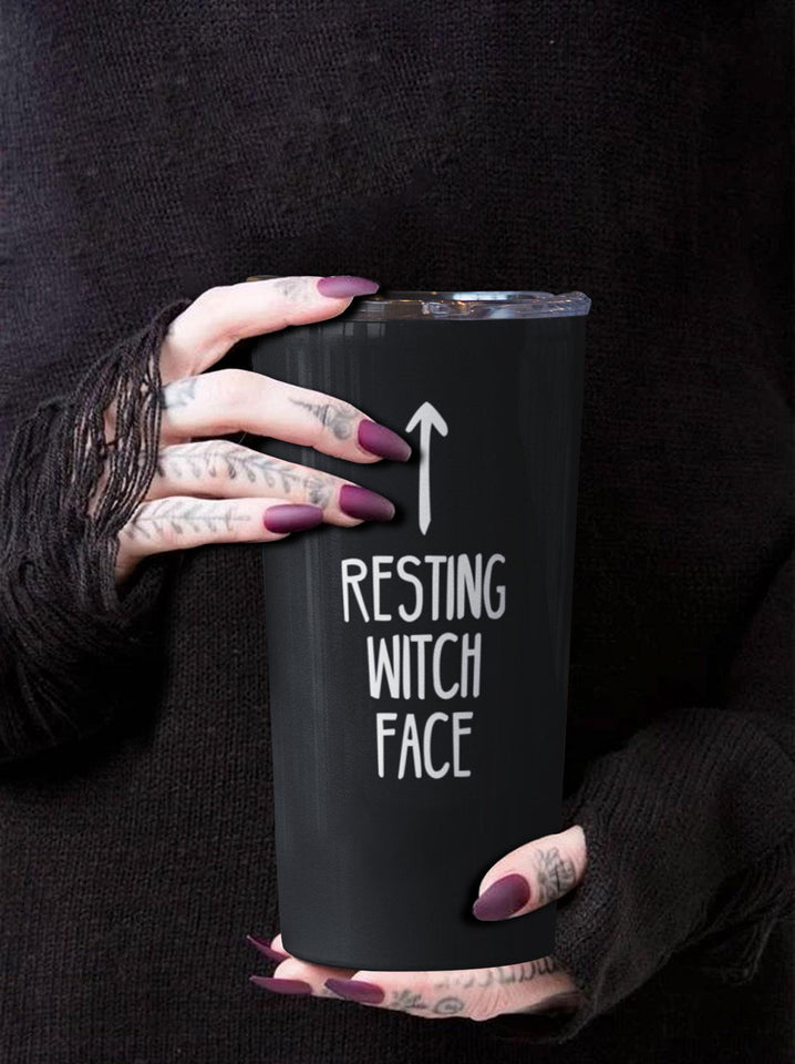 Designed Tumbler - Goth Style Love, Goth Girl, Resting Witch Face