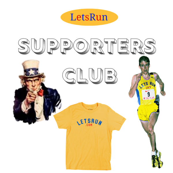 FREE LetsRun.com Shirt + 1  Year Supporters Club Membership - Black Friday Week 25% Off